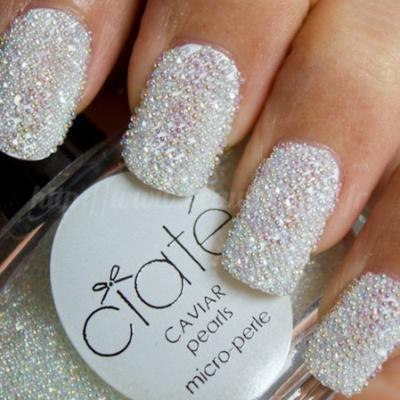 78798 beautiful white pearl nails